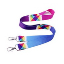 Custom Full-color Dye Sublimation Polyester Lanyard, 35 2/5