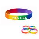 Custom Rainbow Silicone Bracelet / Wristband, 8