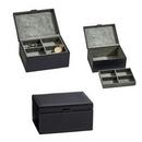 Custom Elegant Black Leather Jewelry Box - 12