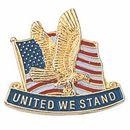 Blank Military Award Lapel Pins, 7/8
