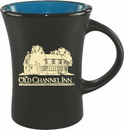 Custom 10 oz. Black Matte Mug with Colorful Inside, 3 1/2