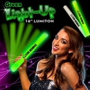Custom Green LED Foam Batons