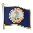 Custom Virginia State Flag Pin