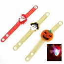 Custom Halloween Pumpkin Wrist Strap With LED, 8 1/16