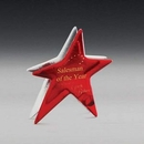 Custom Ruby Star Art Glass Award (6