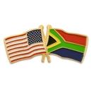 Custom Usa & South Africa Flag Pin, 1 1/8