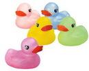 Custom Transparent Color Rubber Duck, 3 3/4