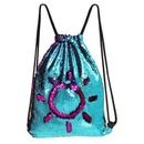 Custom Mermaid Sequins Drawstring Backpack, 14.17