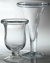 Custom Hurricane Vase With Rolled Edge. Premium Glass., 7