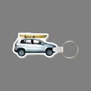 Custom Key Ring & Full Color Punch Tag - SUV W/ Kayak
