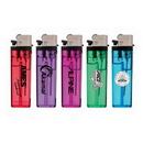 Custom Transparent Standard Flint Cigarette Lighter, 3.125