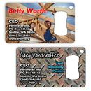 Custom Metal Business Card Bottle Opener, 3.5