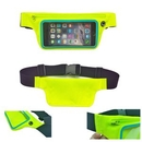 Custom Fluorescent Green Runners Waist Belt with Expandable Storage Pouch, 27