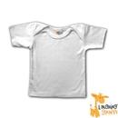 Custom White Infant Cotton Short Sleeve T-Shirt w/Lap Neck