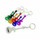 Custom Guitar Shape Aluminum Bottle Opener Key Chain, 2 9/10