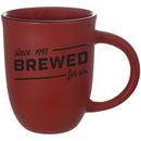 Custom 14 Oz. Salem Mug Satin Red with Black Rim