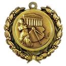 Custom Stock Arts Medal w/ Wreath Edge / 1 1/2