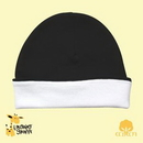 Custom The Laughing Giraffe Infant Ringer Beanie Hat - White/Black