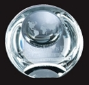 Custom Optical Crystal Globe Dome Paperweight Award