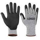 Custom Black Palm Dipped Cut Resistant Gloves