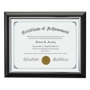 Custom Trent Certificate Frame - Black/Silver 81/4