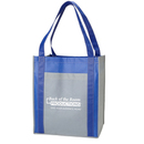 Custom Color Combination Large Non Woven Grocery Tote Bag w/ Pocket, 15