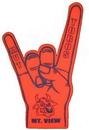 Custom Hook 'em Foam Hand Mitt - (23