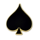 Blank Black Spade Lapel Pin, 5/8