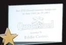 Custom Jade Glass Achievement Award - w/ Brass Star - Small