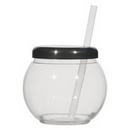 Custom 20 Oz. Fish Bowl Cup With Straw, 4