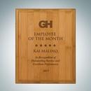 Custom Genuine Bamboo Plaque - Large, 12