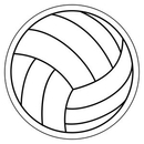 Custom Volleyball Notekeeper Magnet- 35 Mil Process Color (3