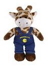 Custom Soft Plush Giraffe in Denim Overall 8