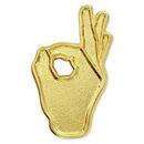 Blank OK Hand Sign Pin, 1