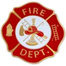 Custom Fire Department Badge Pin, 1 1/4