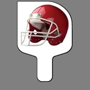 Custom Hand Held Fan W/ Full Color Red Football Helmet, 7 1/2