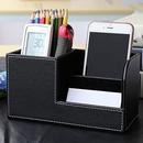 Custom Multifunctional PU Leather Desktop Storage Box, 8