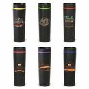 16 oz. Black Matte Tumbler with Plastic Liner, Personalised Tumbler, Custom Logo Tumbler, 8.75