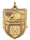 Custom 100 Series Stock Medal (Water Polo) Gold, Silver, Bronze