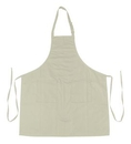 Blank Cotton Poly Full Length Apron (Natural), 28