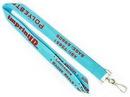 Custom Light Blue Polyester Lanyards 1/2