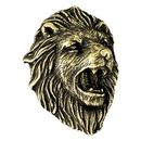 Lion Mascot Fully Modeled 3 Dimensional Pin