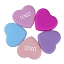 Custom Beauty Soft Heart-shaped Silicone Scrubber Cosmetic Brush Cleaning Tools, 3.4