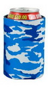 Custom Blue Camo Pocket Coolie Can Cover (4 Color Process)