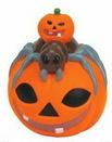 Custom Rubber Pumpkin W/ Spider on Top