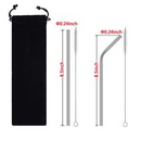 Custom Re-usable Stainless Steel Drinking Straw, 8 1/2