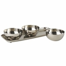 Custom Hammered Stainless Steel 3 Bowl Set (3.5