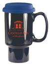 Custom 20 oz. Cobalt Blue Ceramic Travel Mug (LID SOLD SEPARATELY), 3 3/8