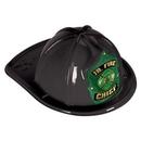 Custom Black Plastic Jr Fire Chief Hats (CLEARANCE)