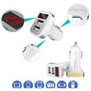 Custom Dual Car USB Charger Adapter with Voltage Detector, 2 1/2